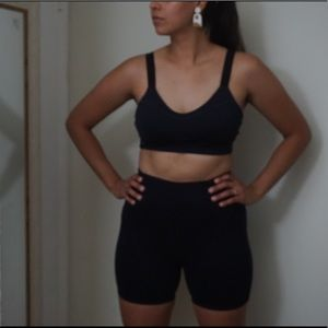 Fabletics two piece. Bra and Biker Shorts